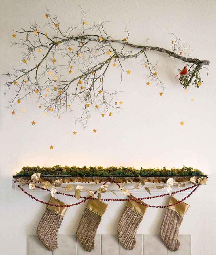 Woodland Themed Mantel