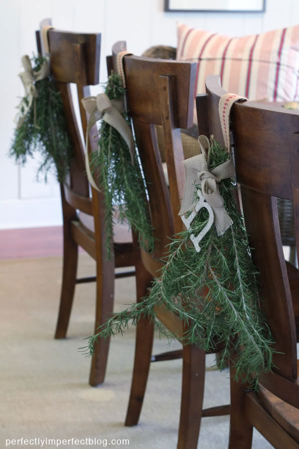 7 Ways To Decorate Your Dining Chairs For The Holidays