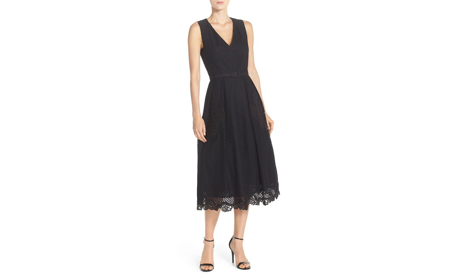 Eliza J Lace Midi Dress