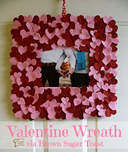 Glittered Heart Wreath