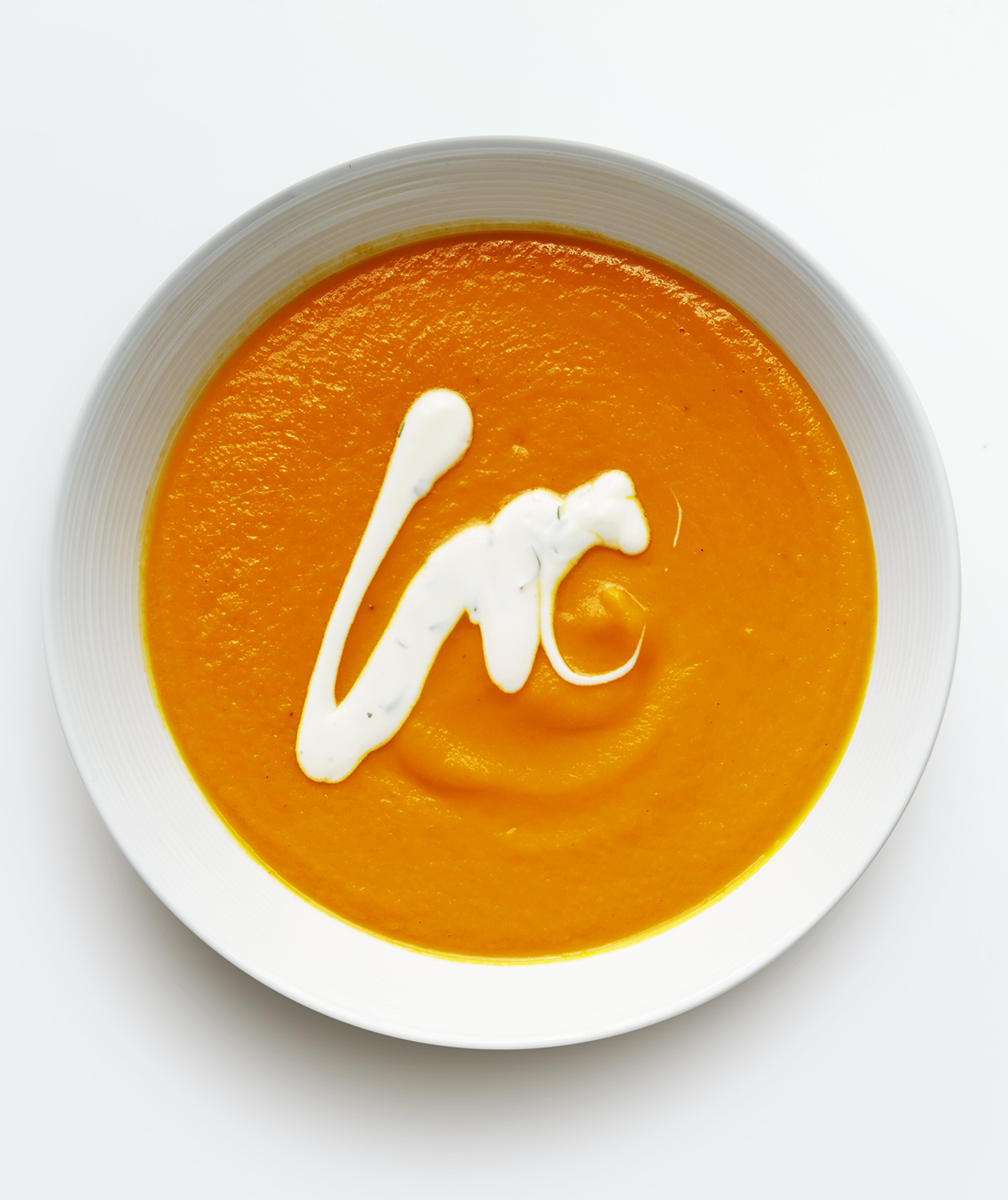 Carrot Soup with Herb Yogurt