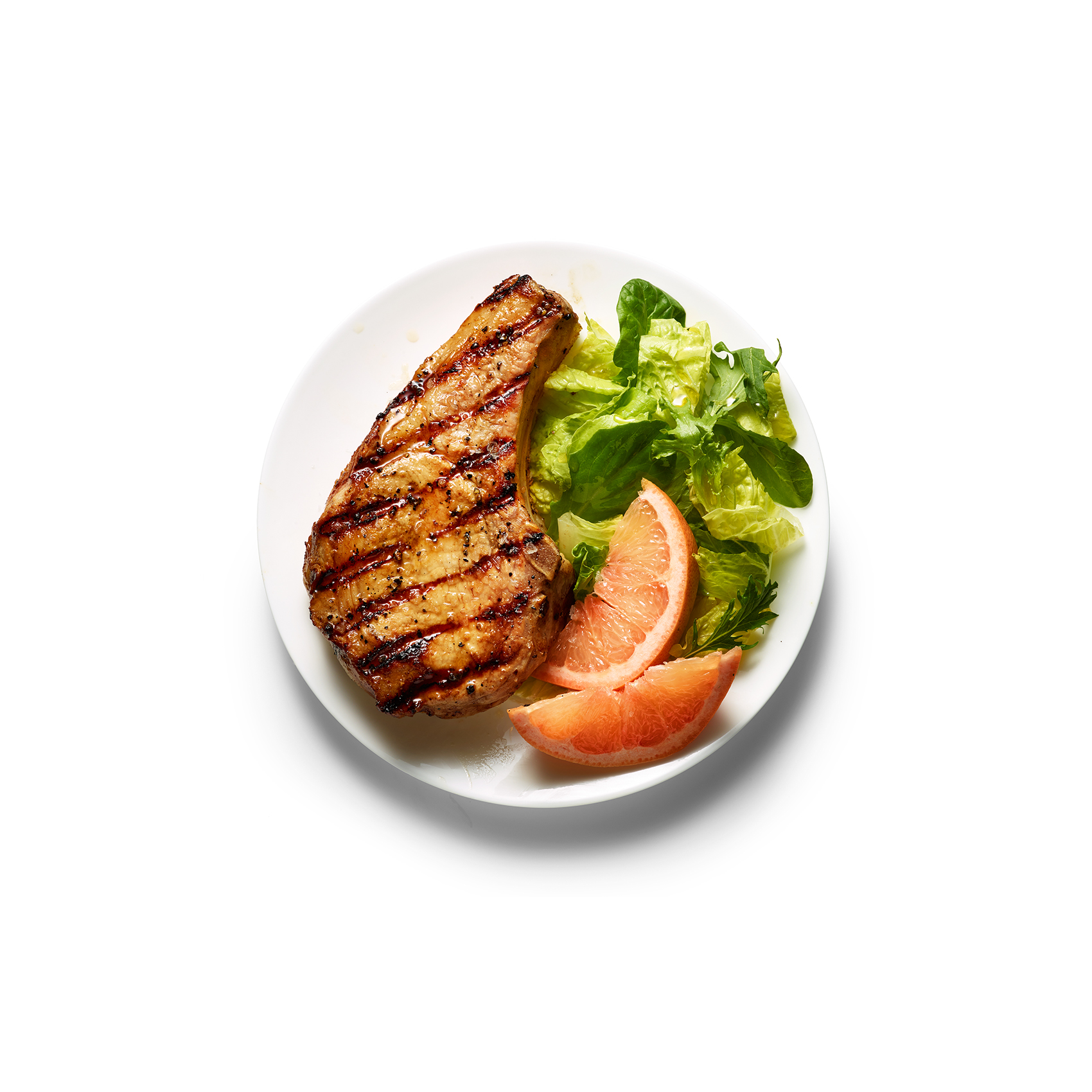 Grapefruit-Glazed Pork Chops