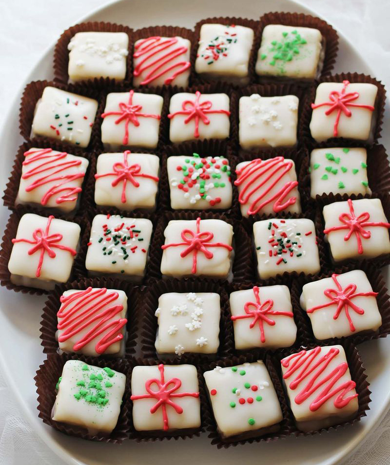 Peppermint Bark Petit Fours