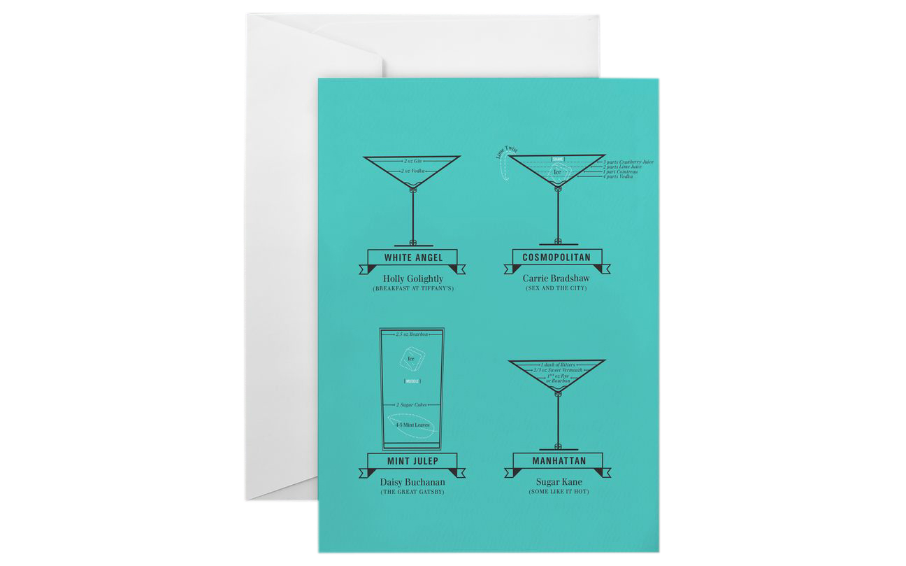 Leading Lady Libations Greeting Card