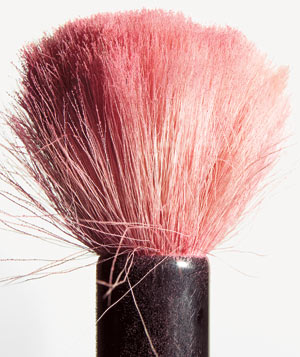 Pink Powder makeup brush