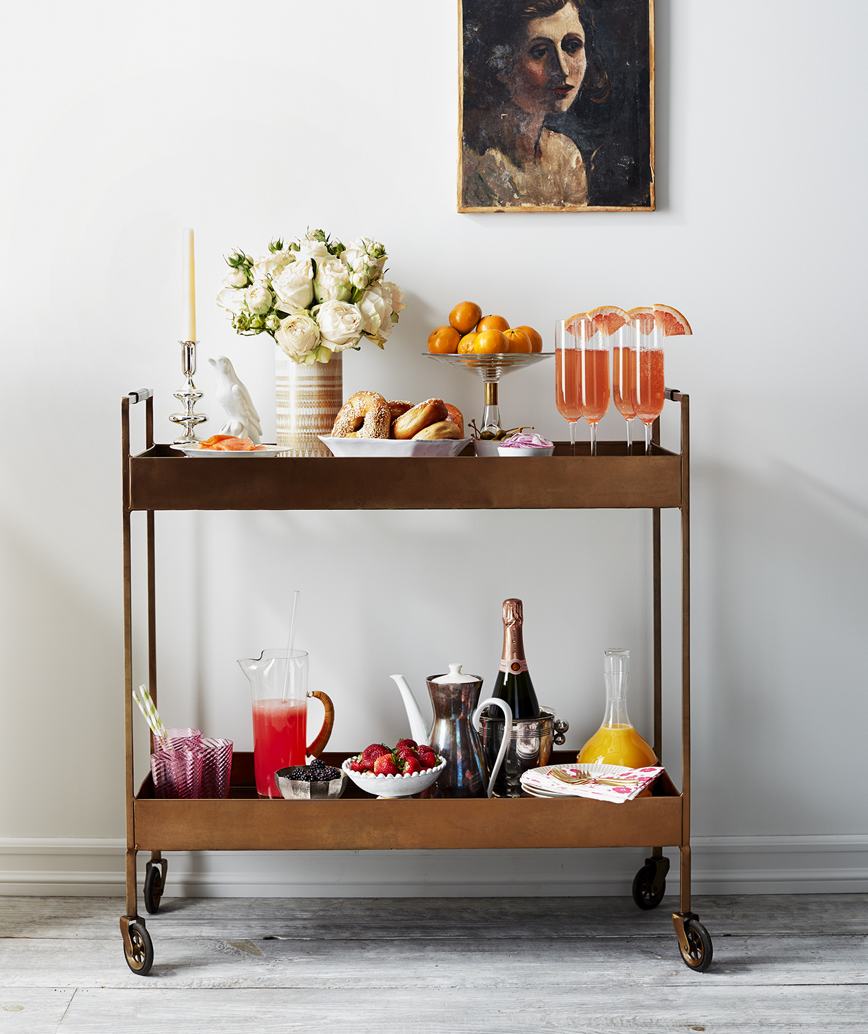 Brunch Buffet bar cart