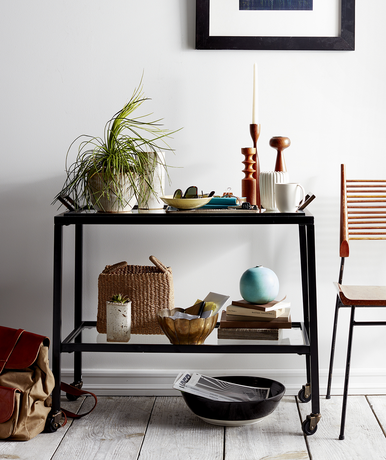 5 genius ways to style a bar cart for every occasion real simple. Black Bedroom Furniture Sets. Home Design Ideas