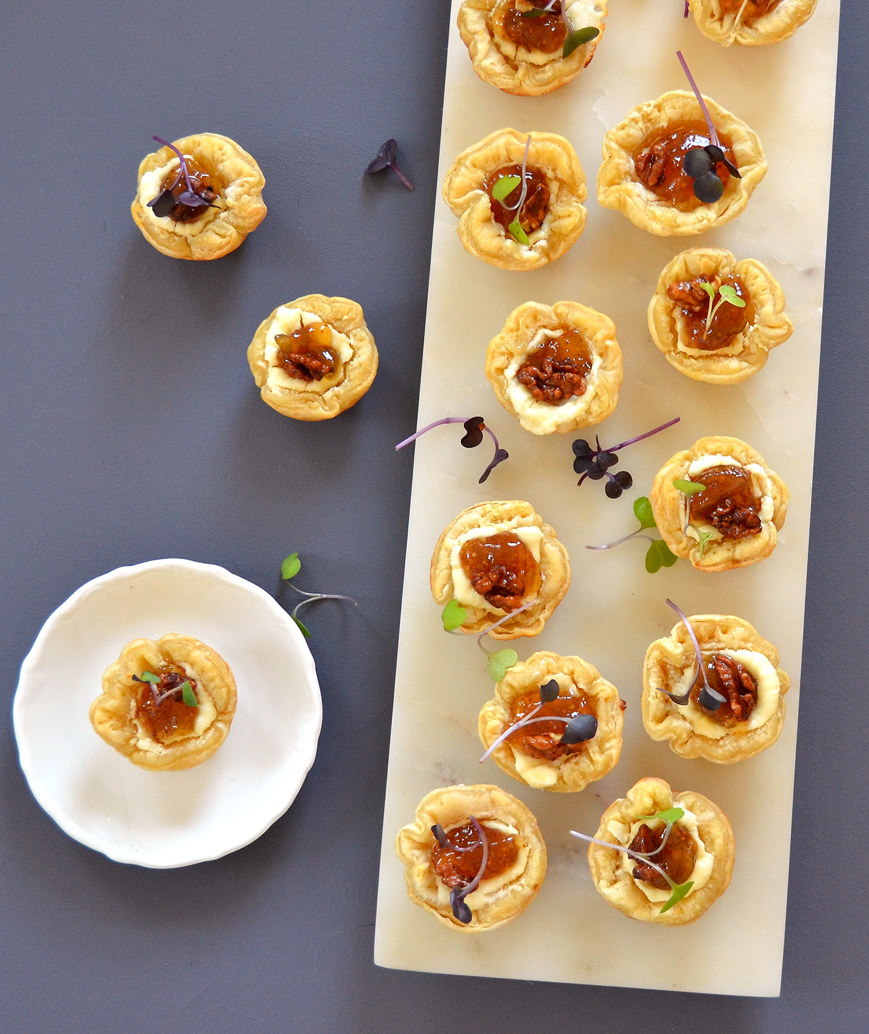 Goat Cheese Tartlets with Fig-Balsamic  Compote