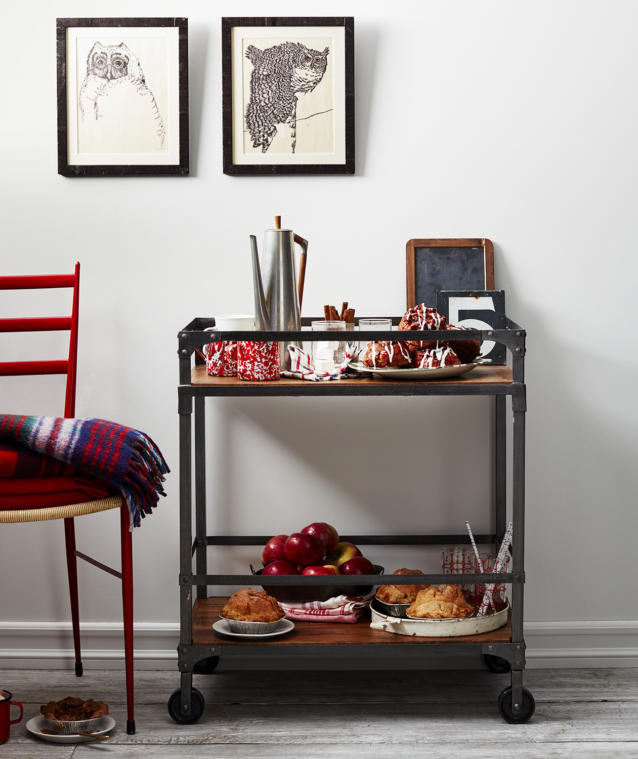 Snowy Afternoon Retreat bar cart