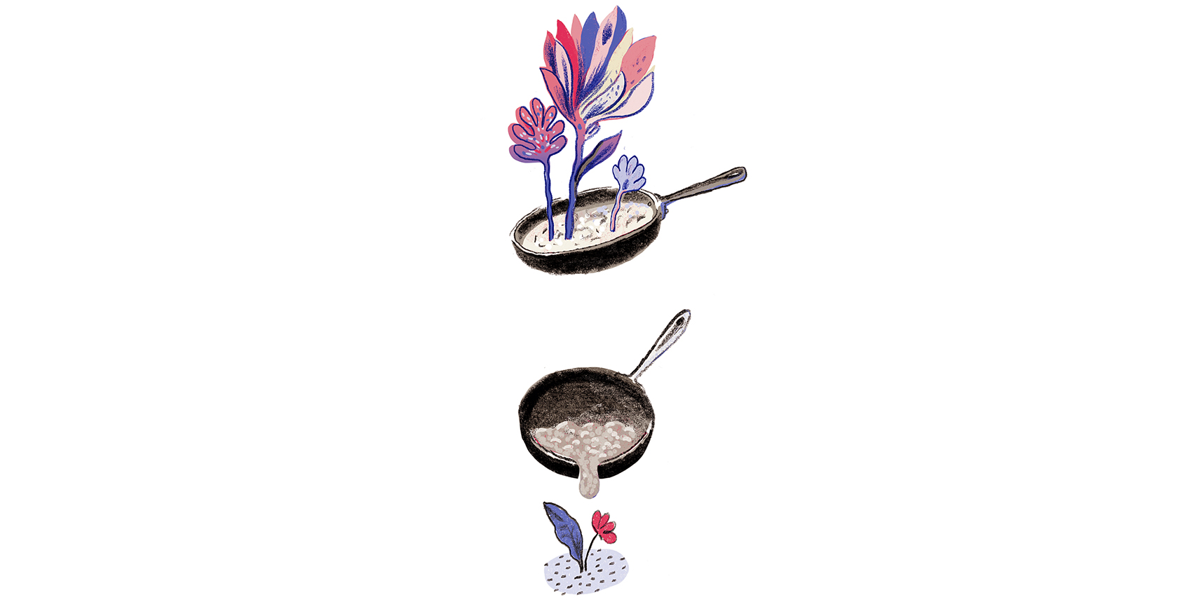 Illustration: cooking oil, plants