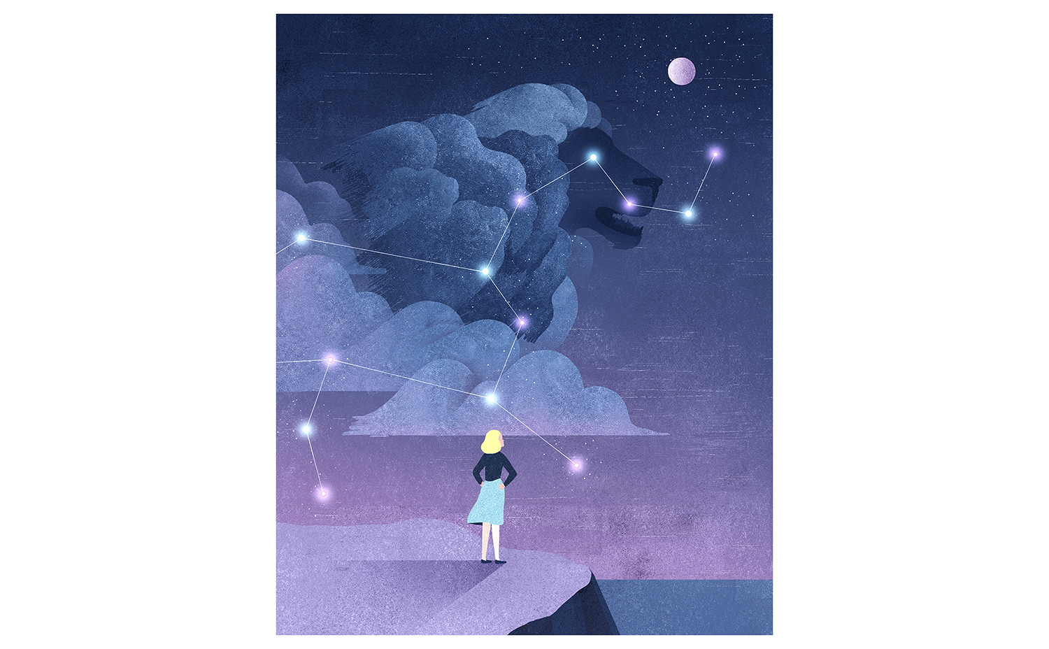 Illustration: woman, astrology, personality