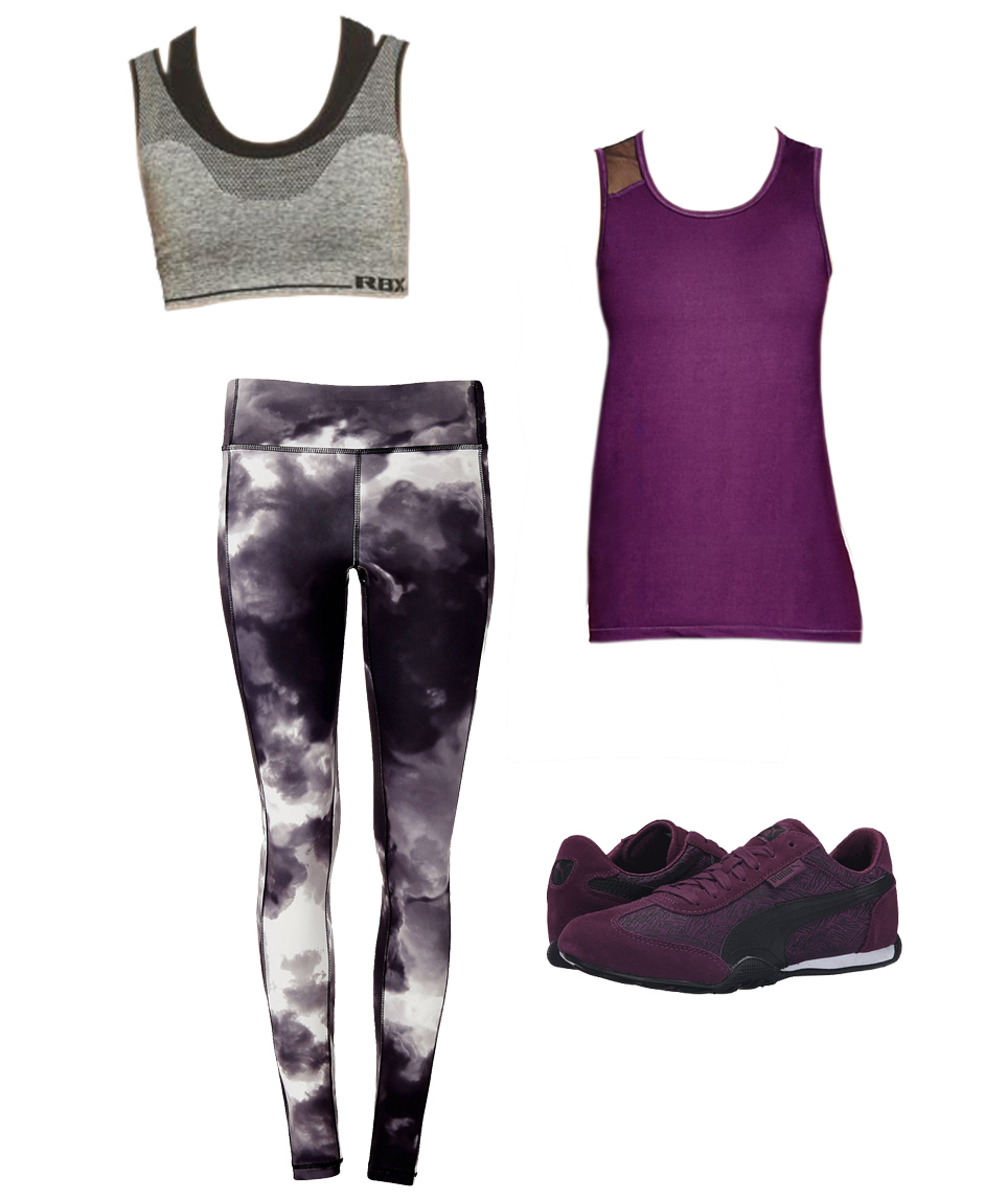 Boxing Knock Out workout outfit