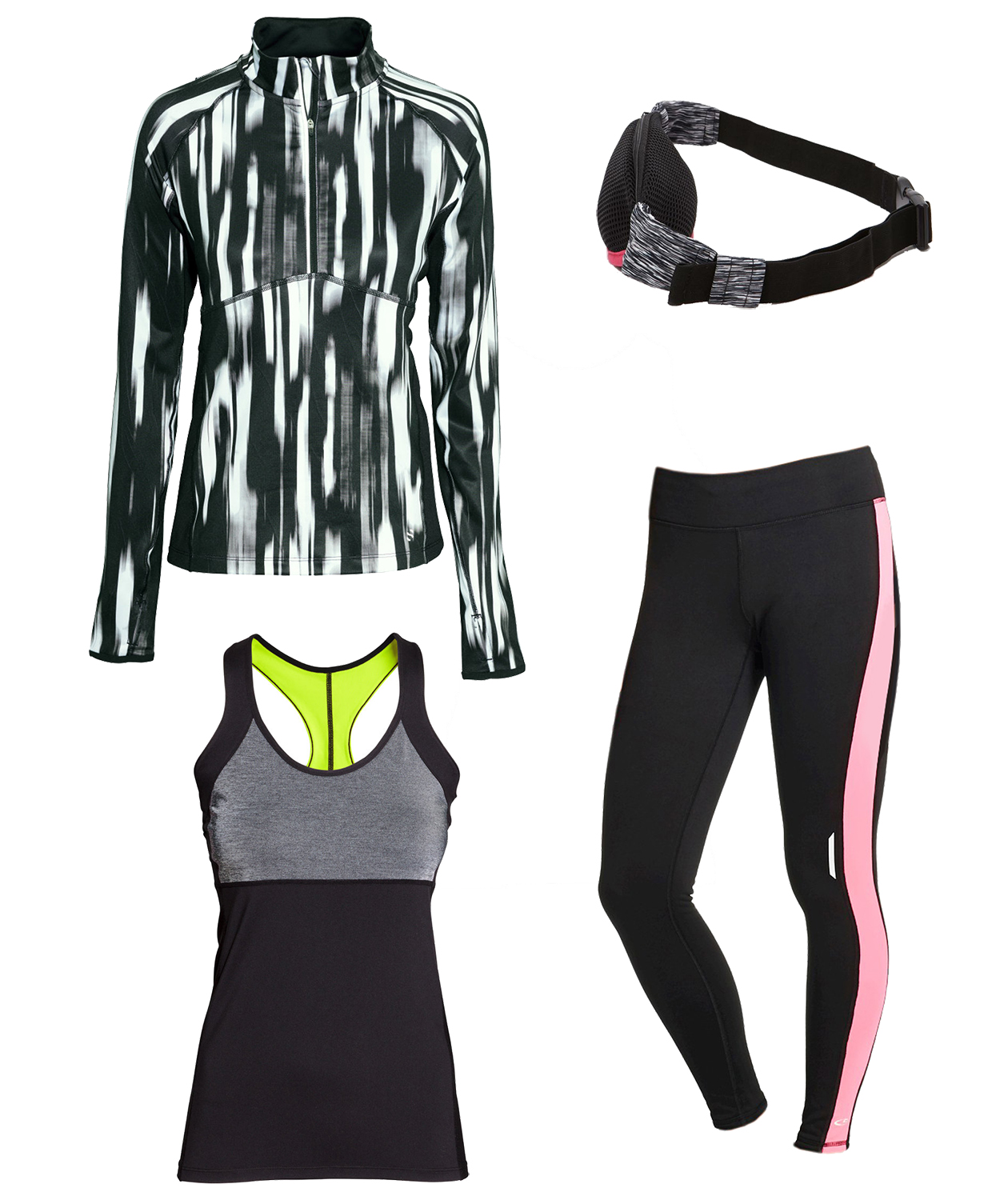 Colorblocked Runner workout outfit