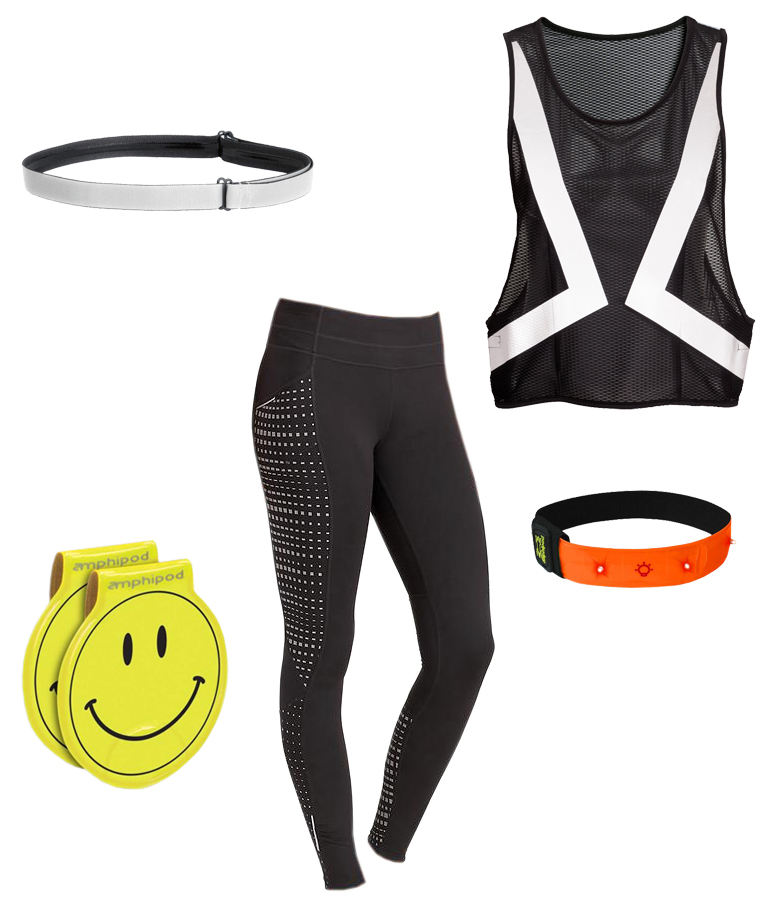 Glowing in the Dark workout outfit