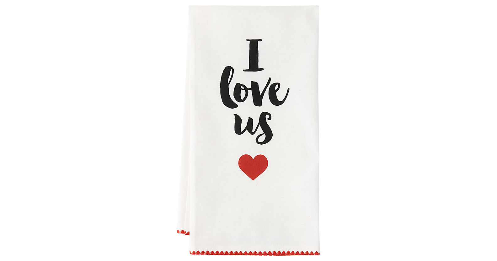 I Love Us Tea Towel