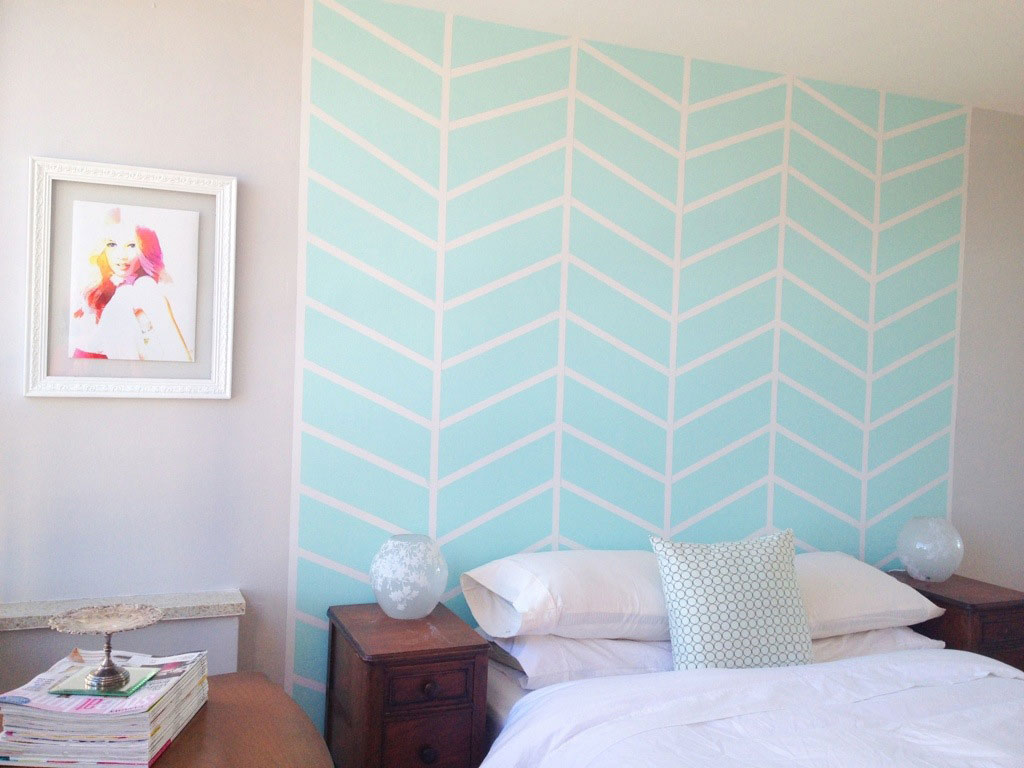 Chevron Wall Headboard