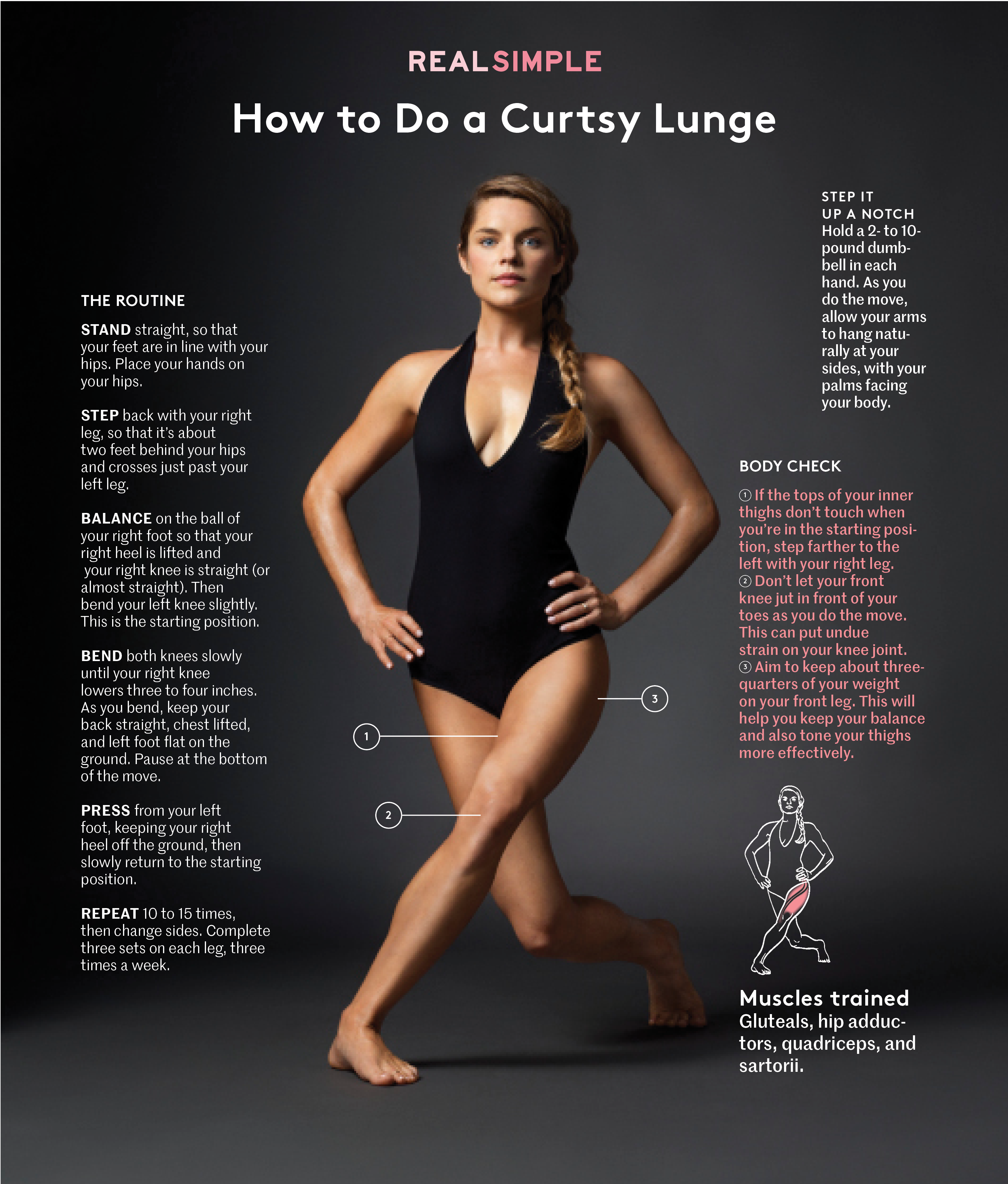 How To Do A Curtsy Lunge Real Simple