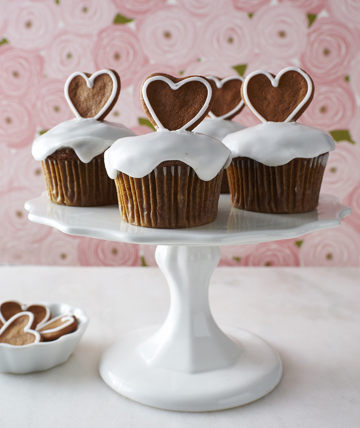 Banana Gingerbread Cupcakes (hearts)