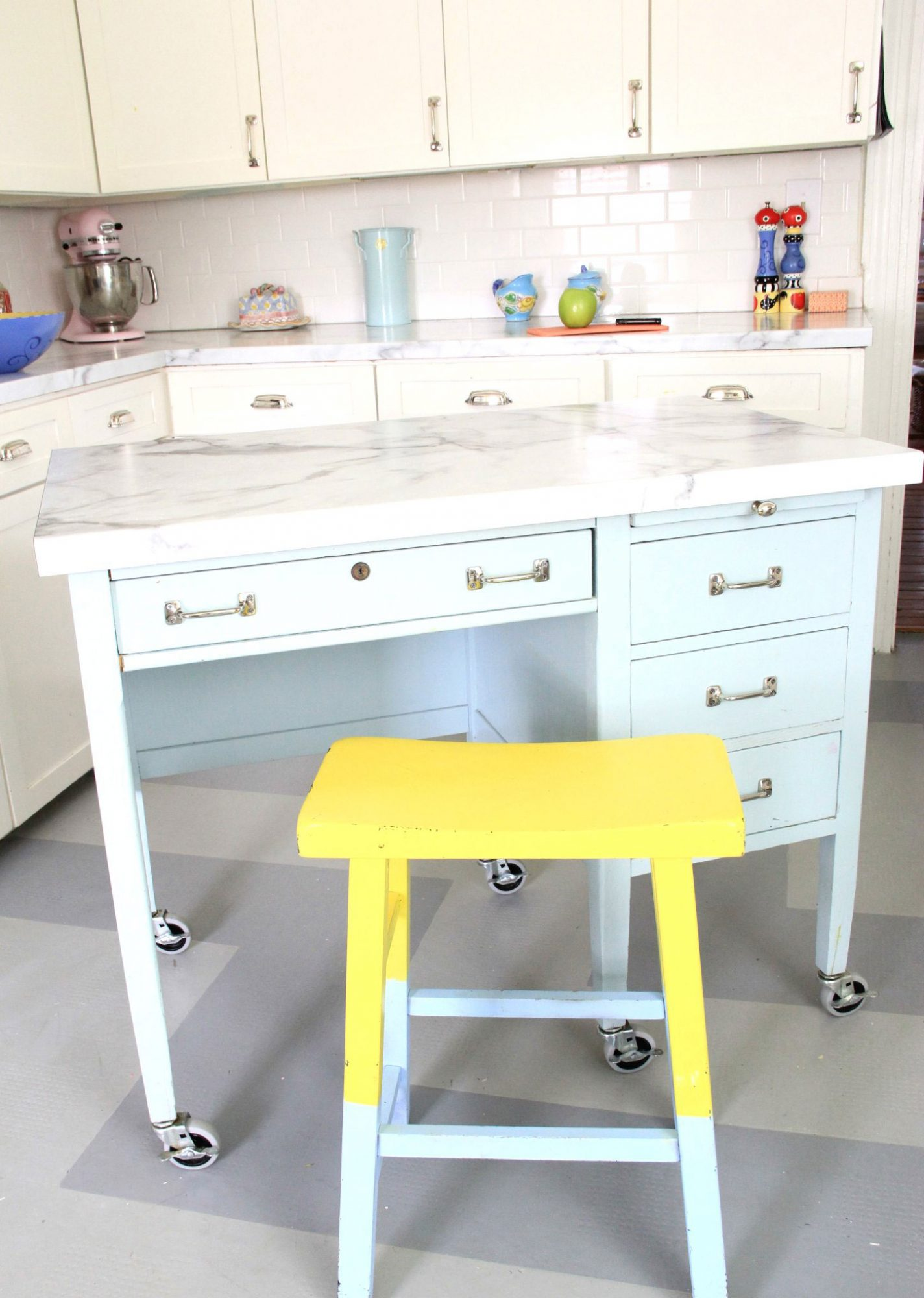 How To Fake A Kitchen Island