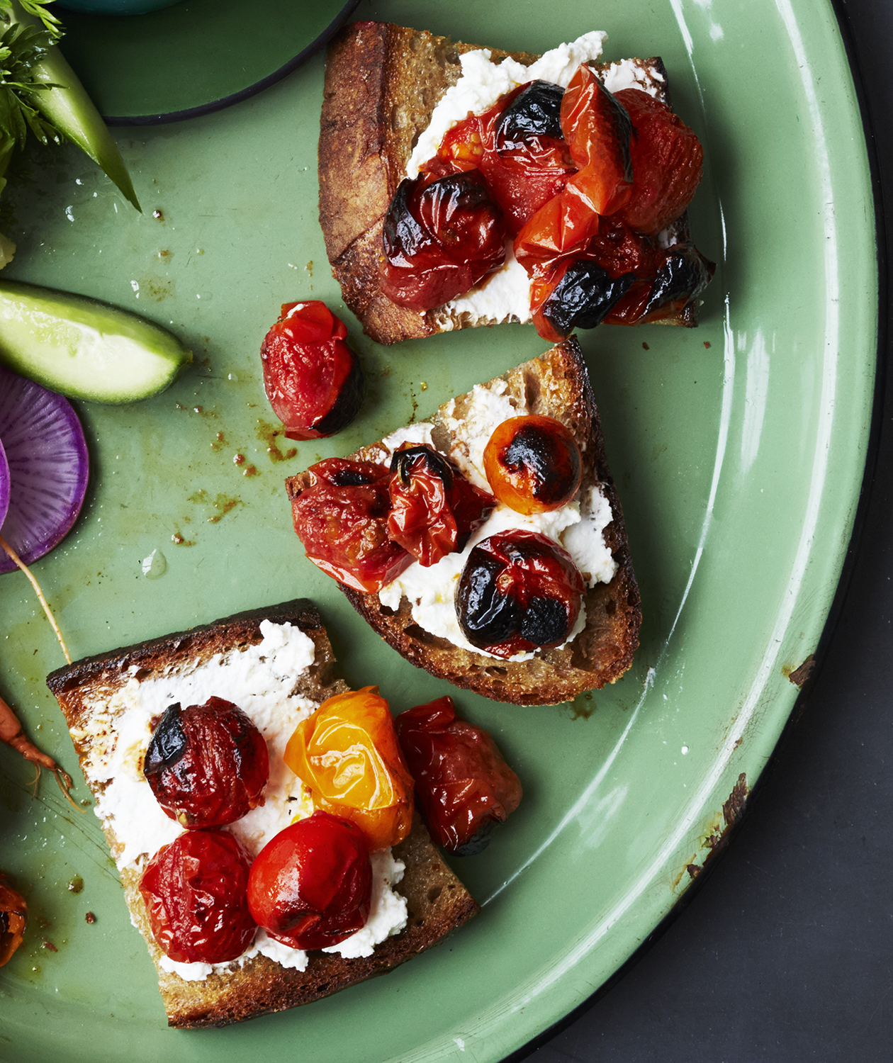Burst-Tomato Toasts