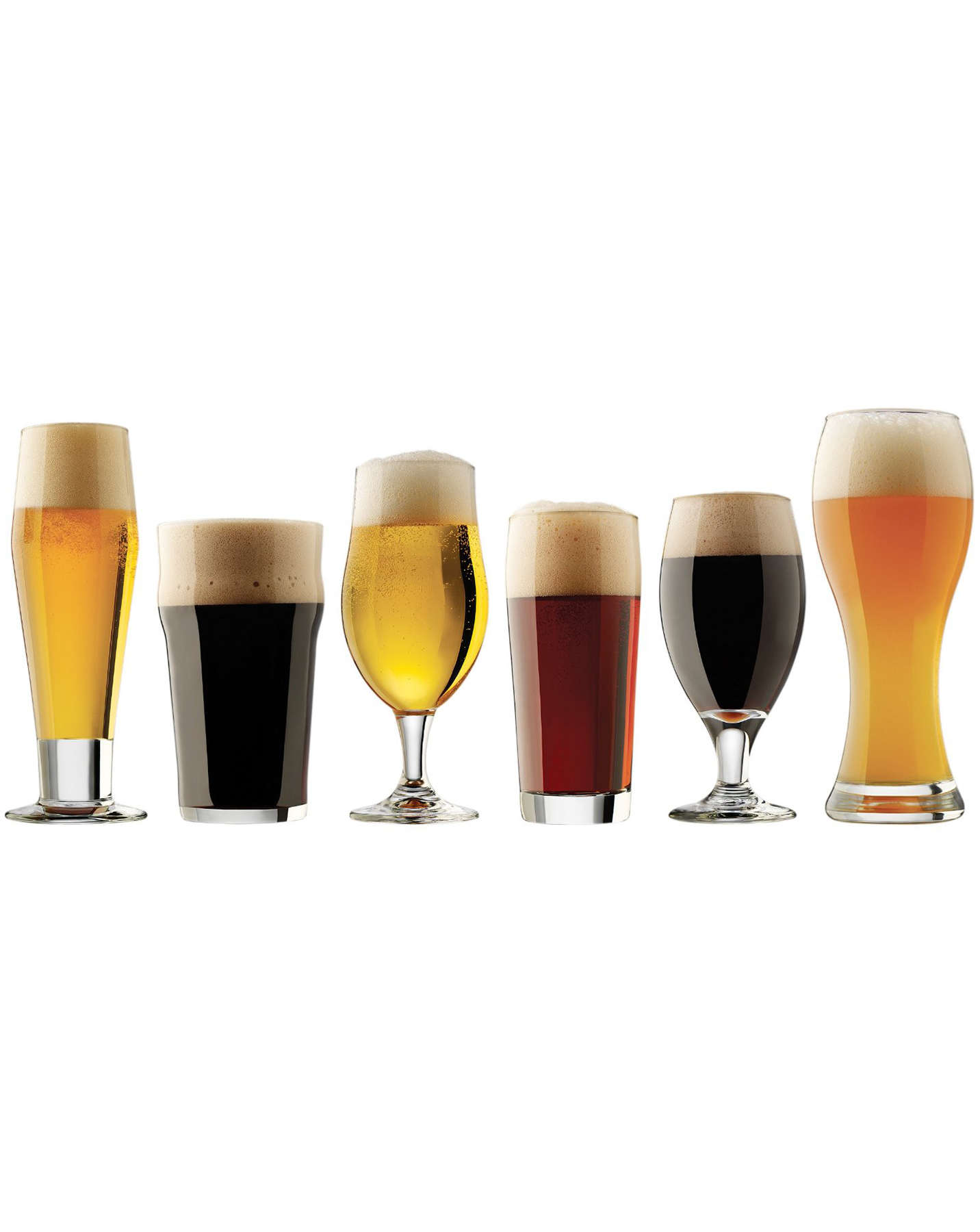 6-Piece Beer Glasses Set