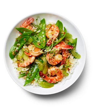 Stir-Fried Shrimp and Celery