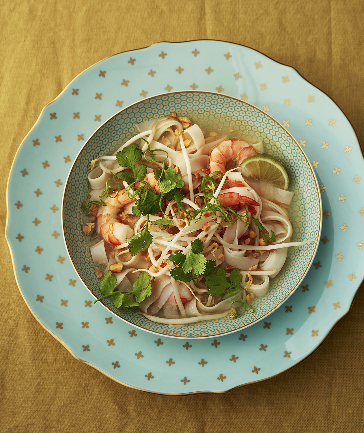 Thai Shrimp Soup with Rice Noodles