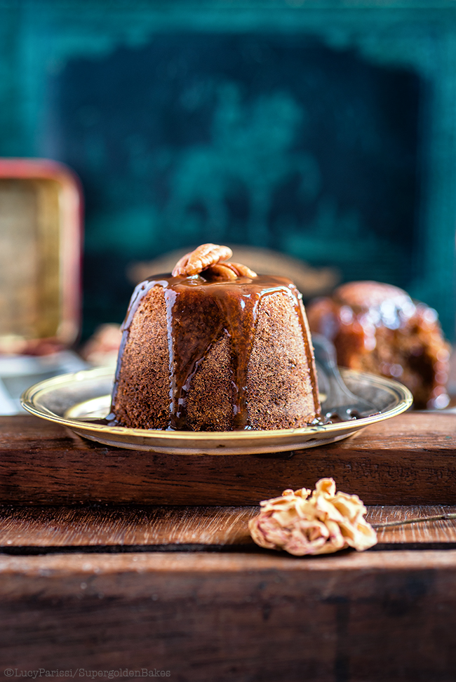 Date and Ginger Sticky Toffee Puddings With Brandy Toffee Sauce
