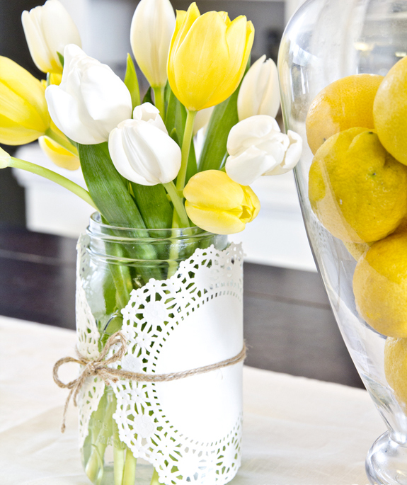 Simple Spring Centerpiece