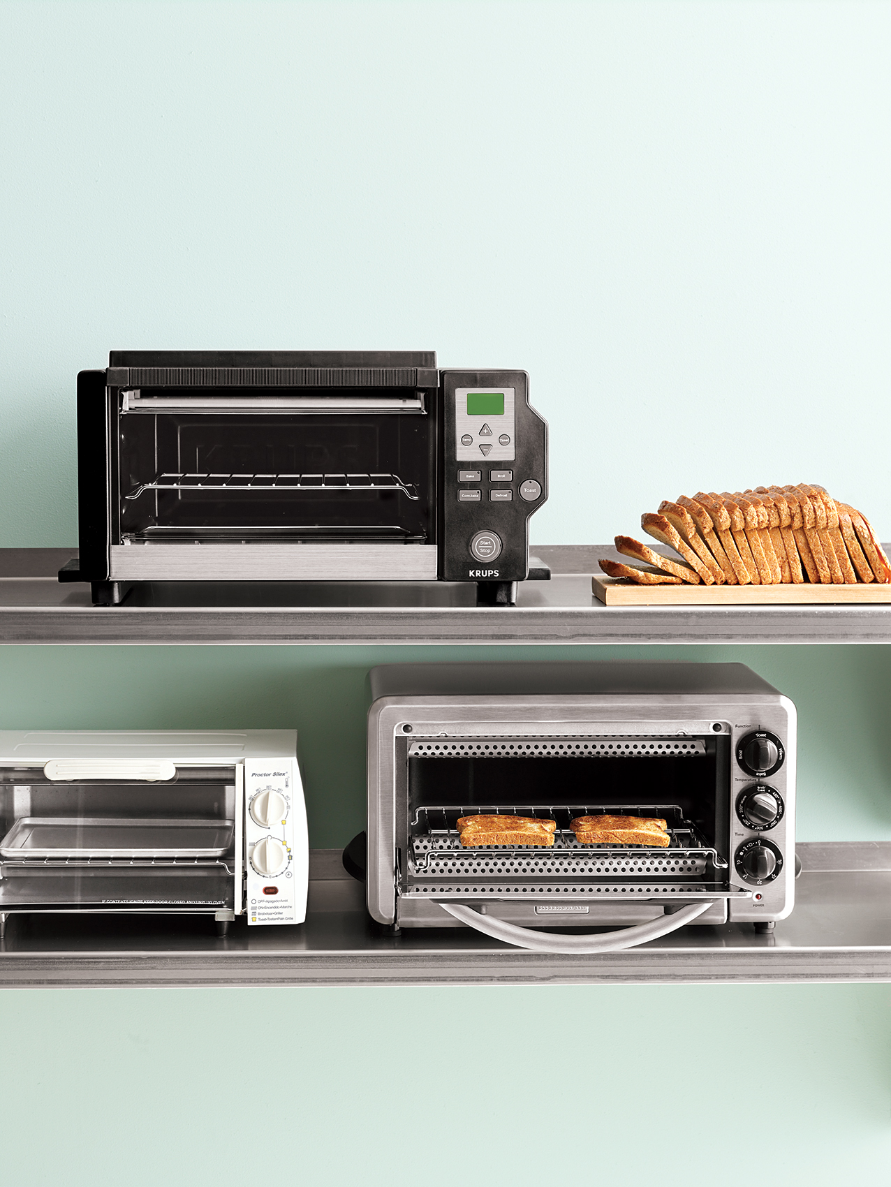 Toaster ovens and bread