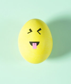 Face With Stuck Out Tongue and Tightly Closed Eyes Emoji Egg
