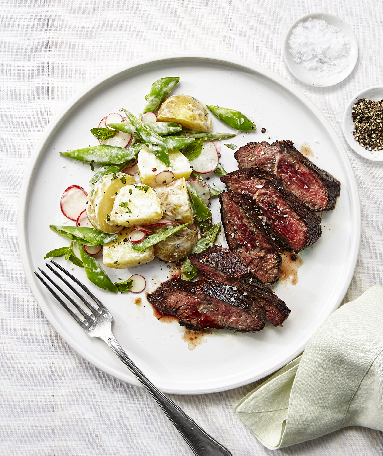 Steak with Potato-Radish Salad