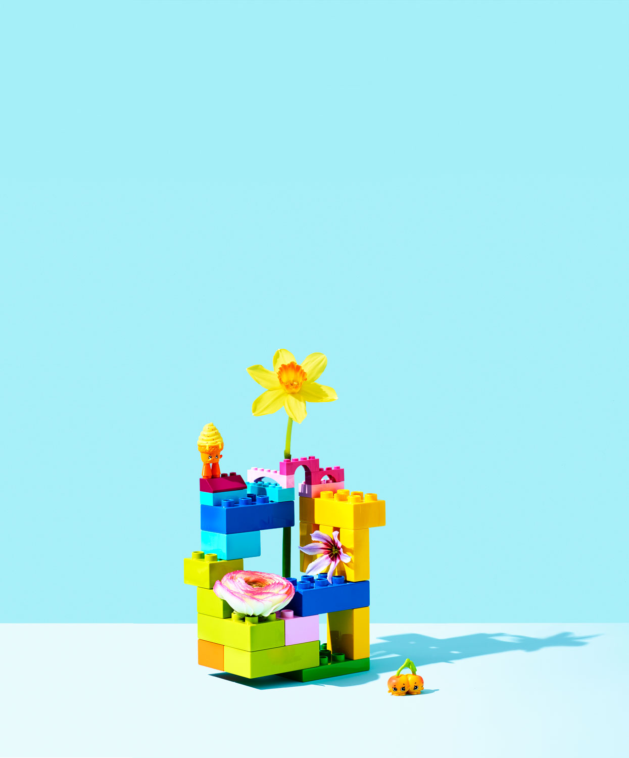 Lego Tower with Flower
