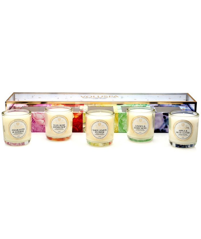 'Maison Jardin' Votive Candle Set
