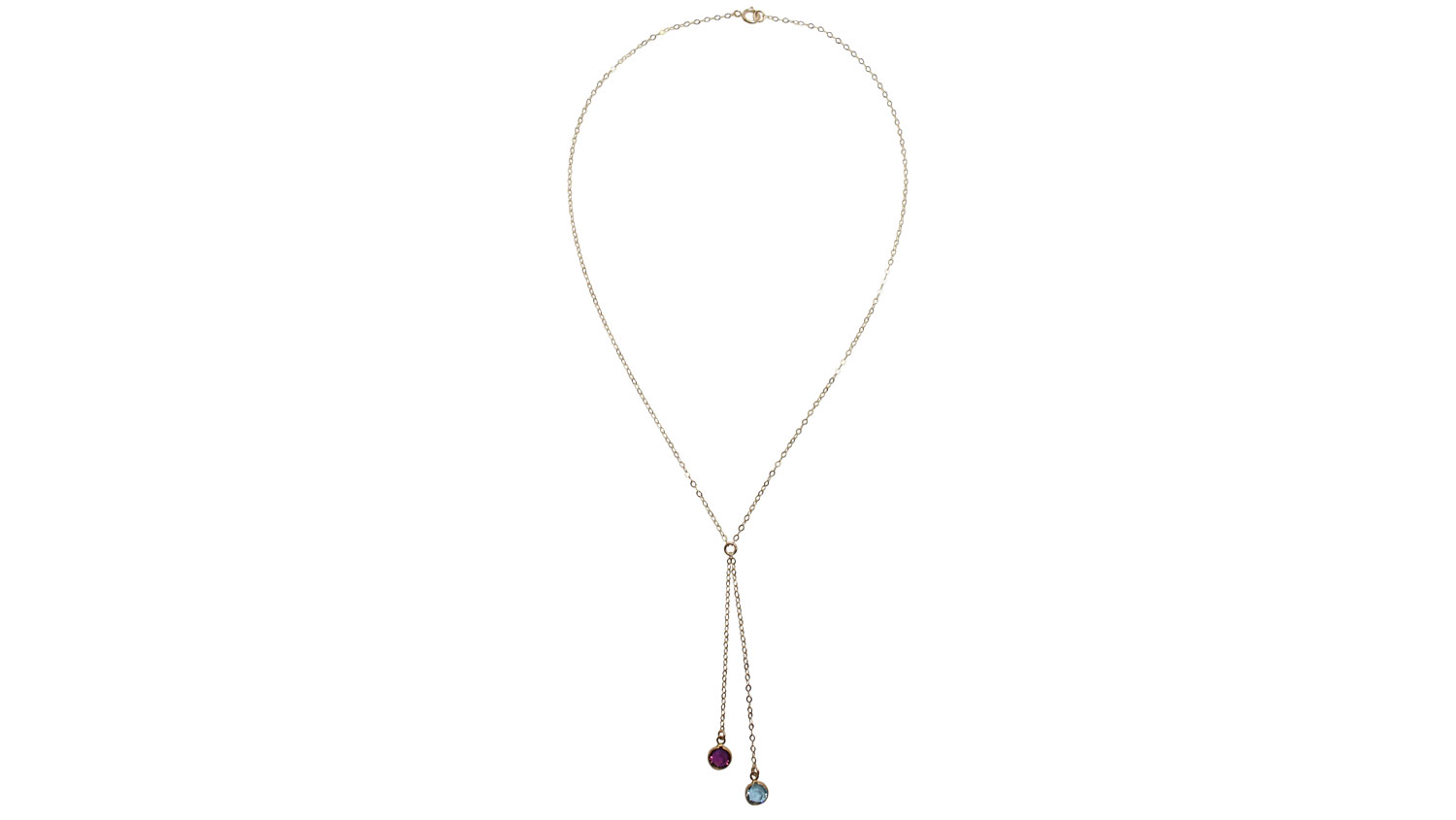 Lariat Gemstone Necklace