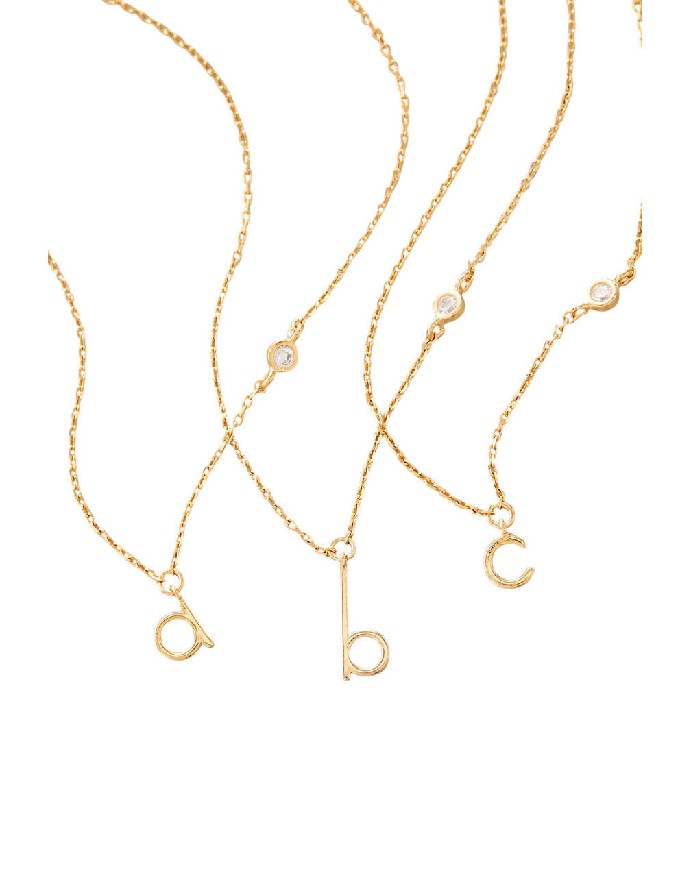 Anthropologie Mini Monogram Pendant Necklace
