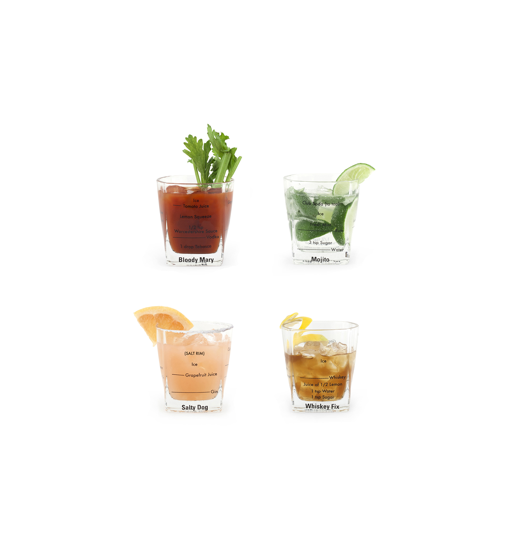 Bartending Glass Set
