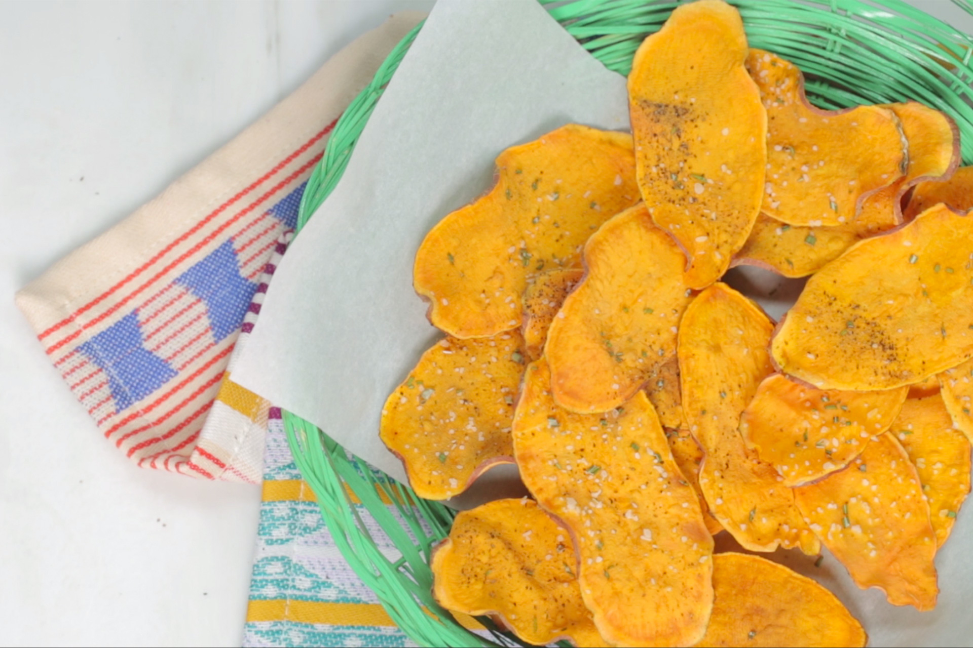 How to Make Microwave Sweet Potato Chips