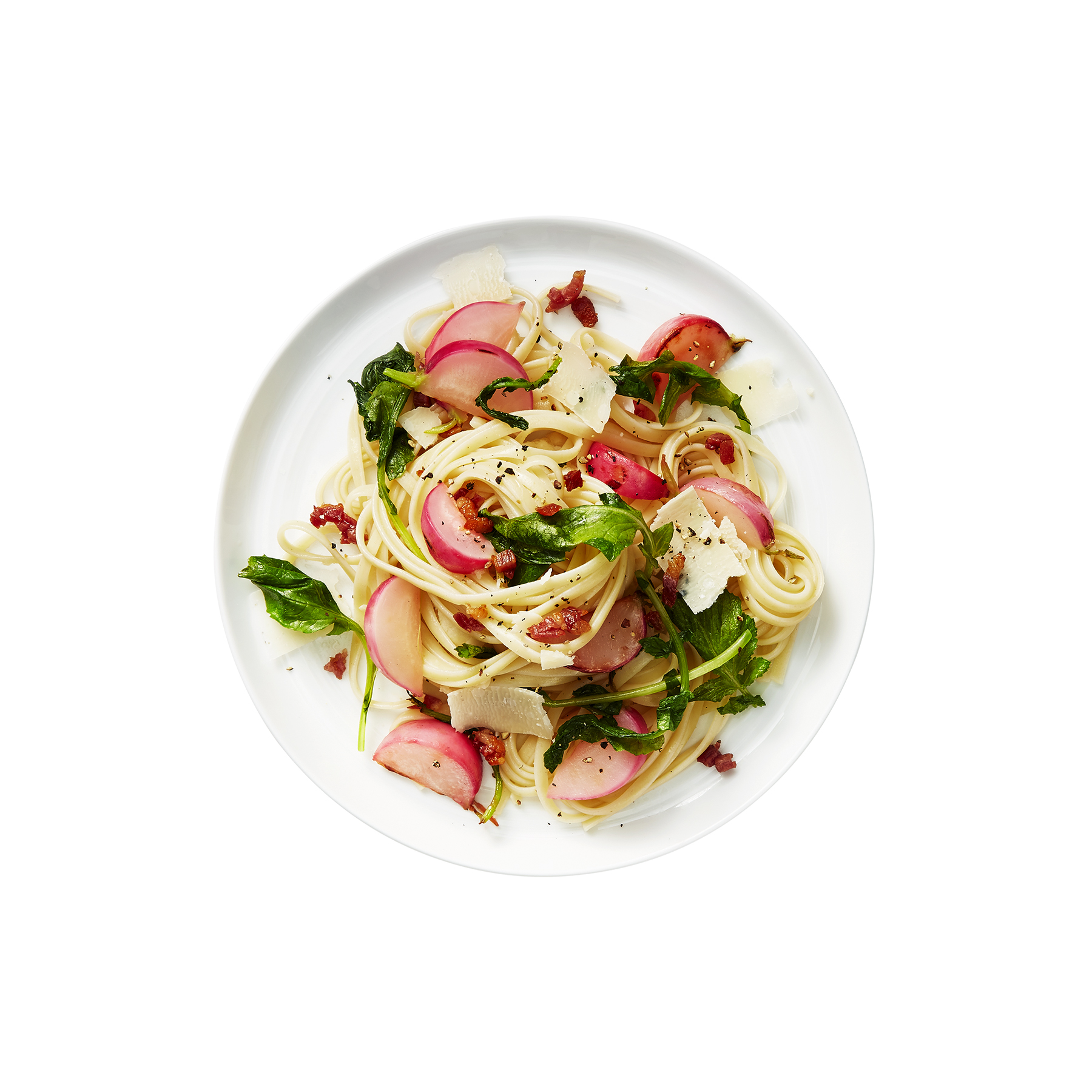 Sautéed Radish, Greens, and Pancetta Pasta