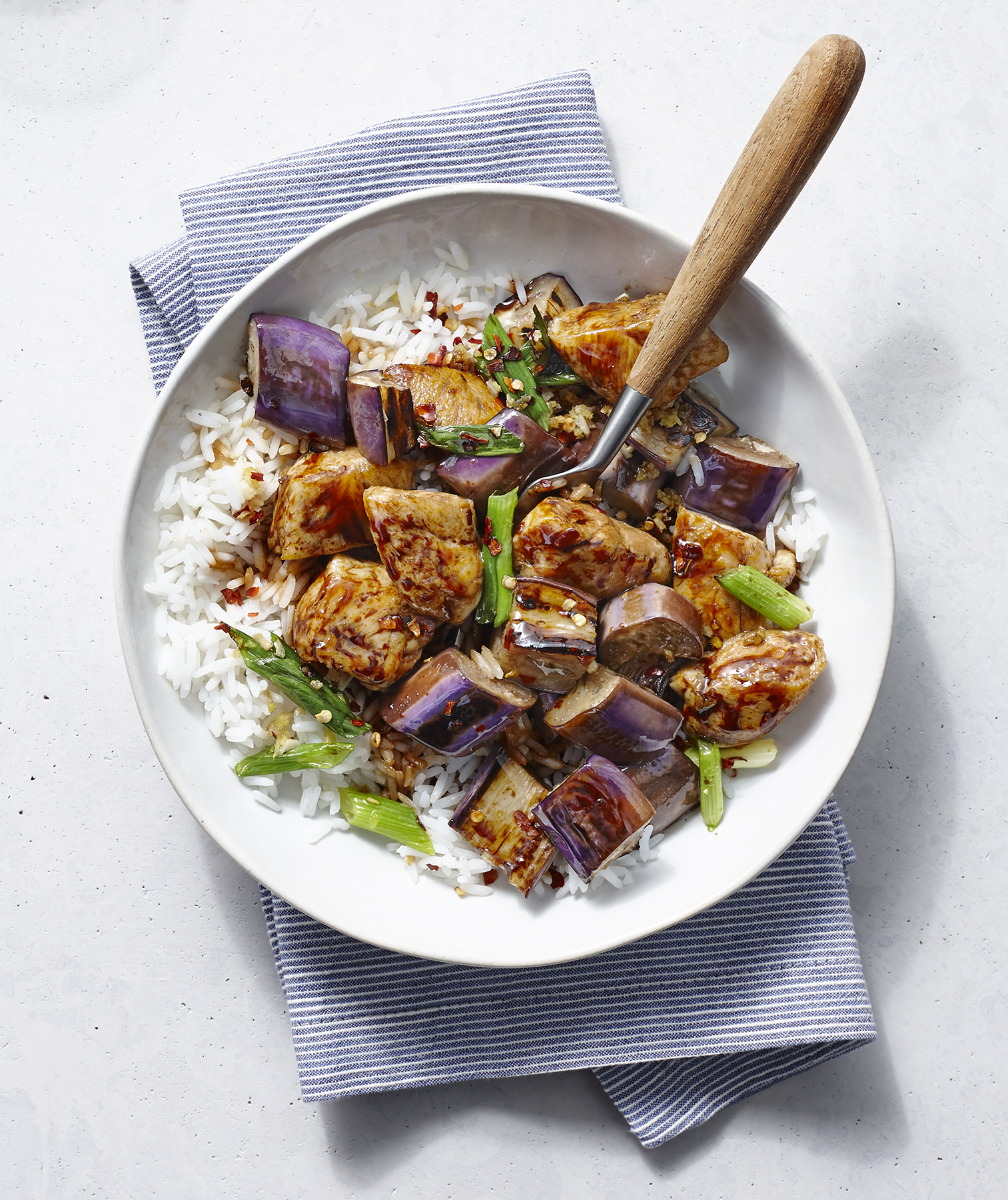 Spicy Chicken and Eggplant Stir-Fry