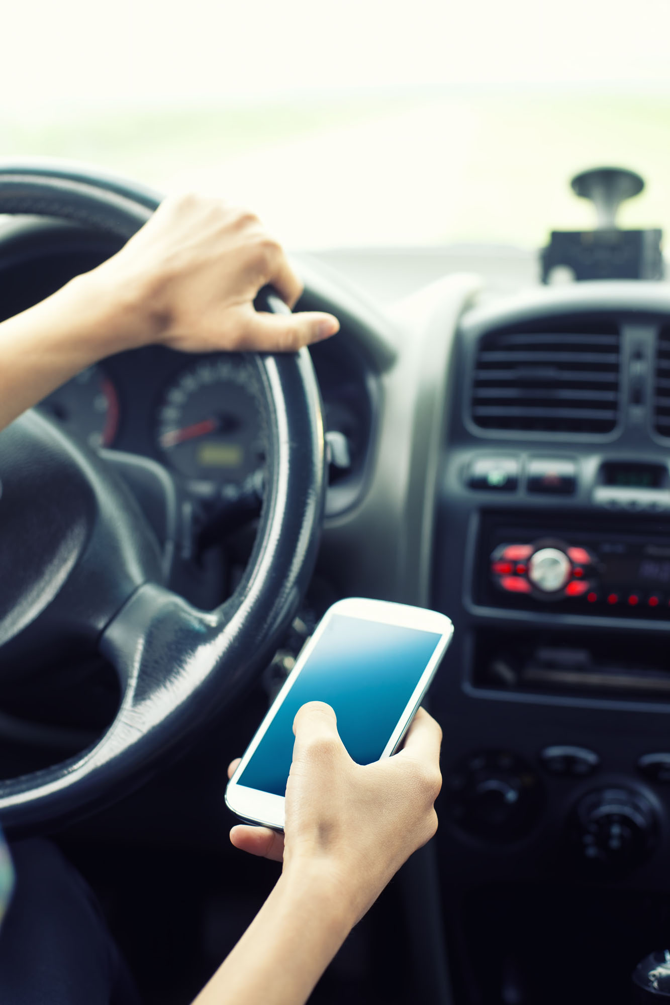 <p>texting while driving</p>