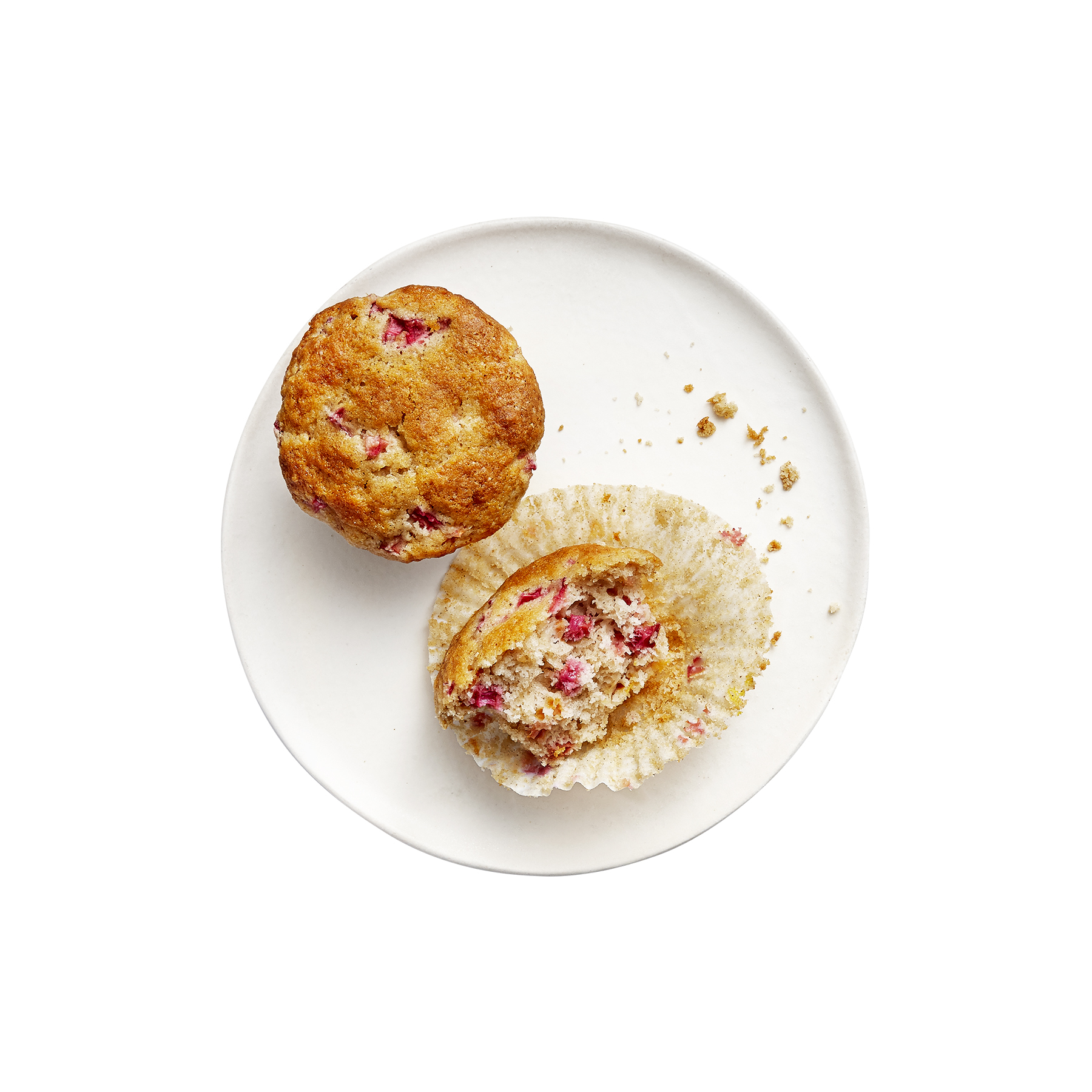 rhubarb-brown-butter-muffins