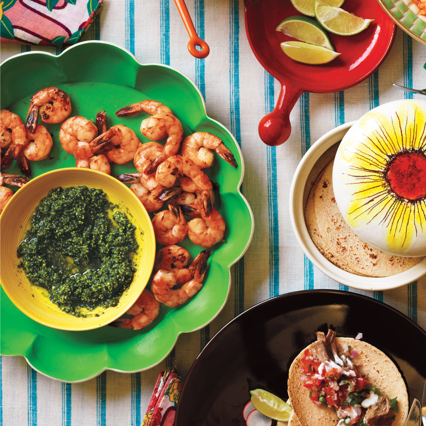 Roasted Shrimp With Pepita Pesto