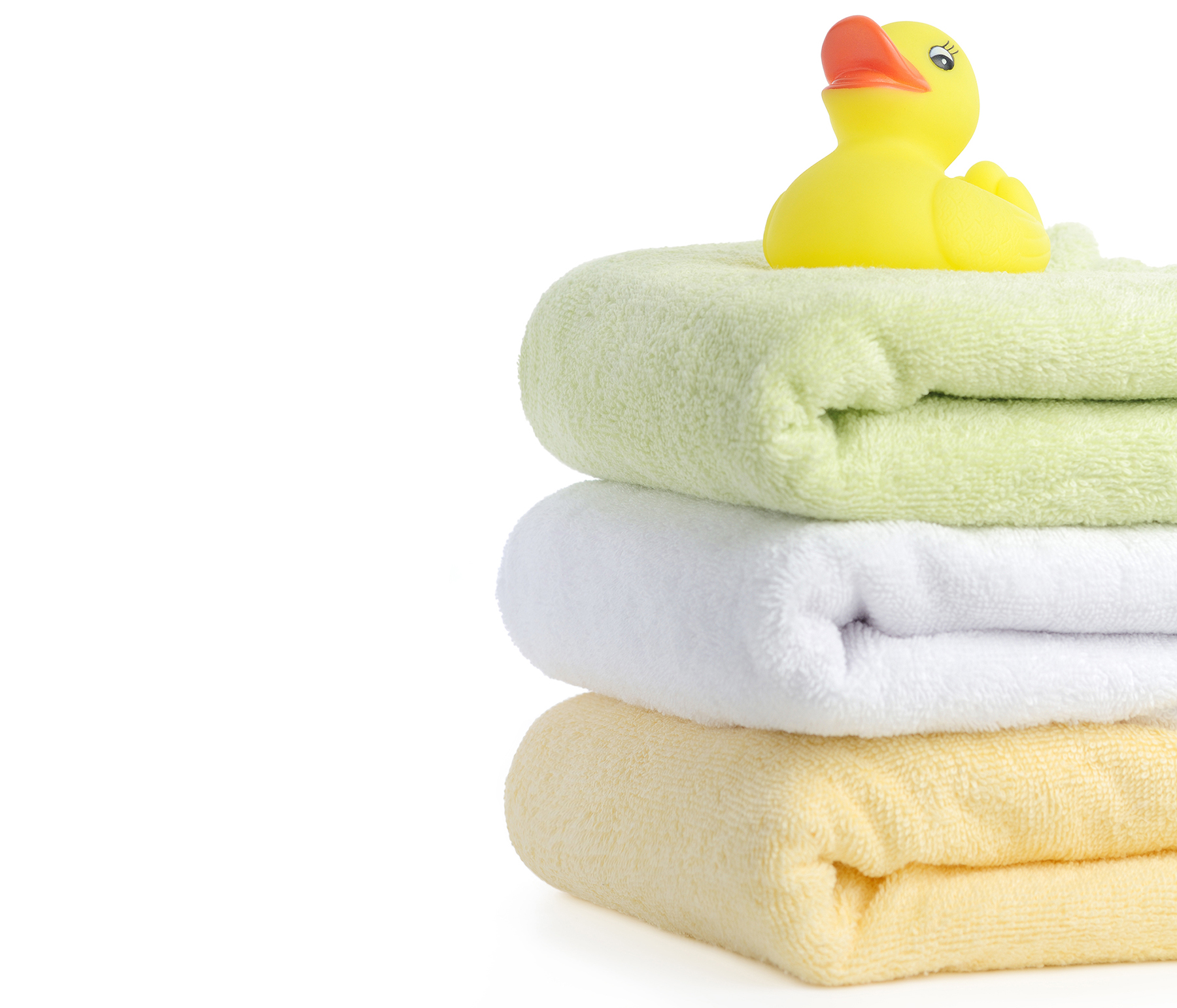 Towels and a rubber duckie