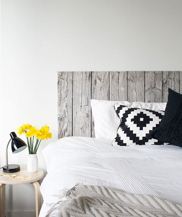 Fabric wood headboard