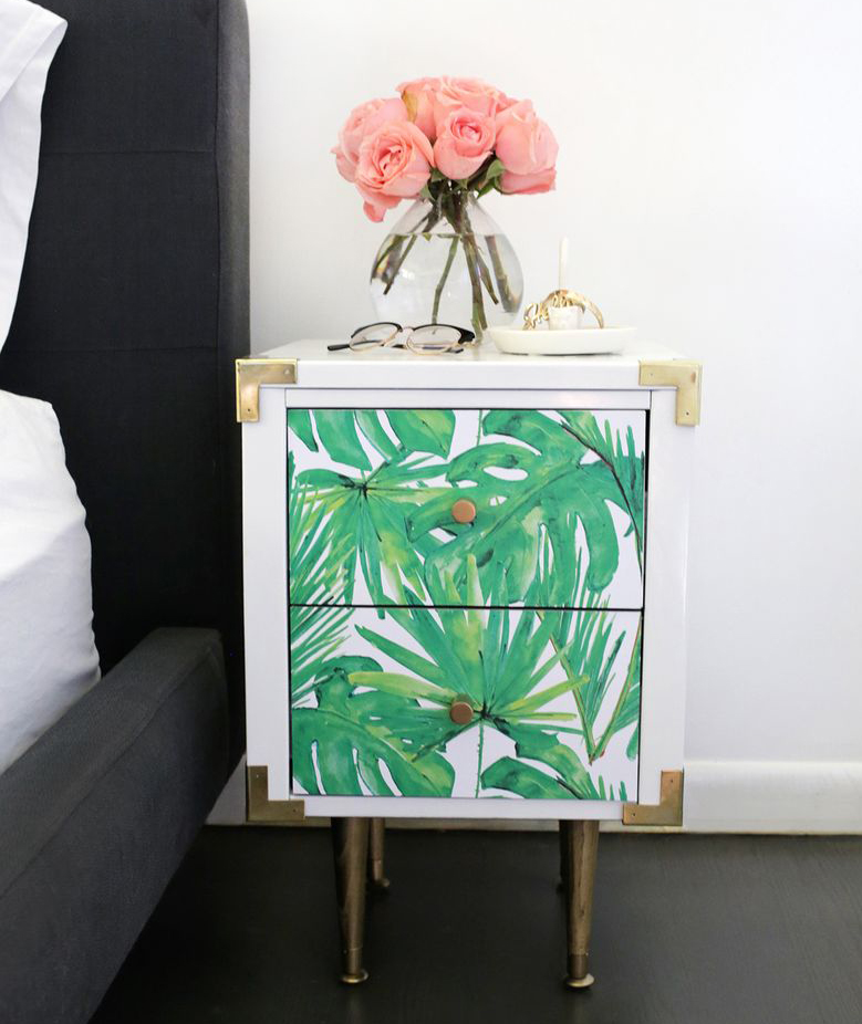 DIY palm print nightstand