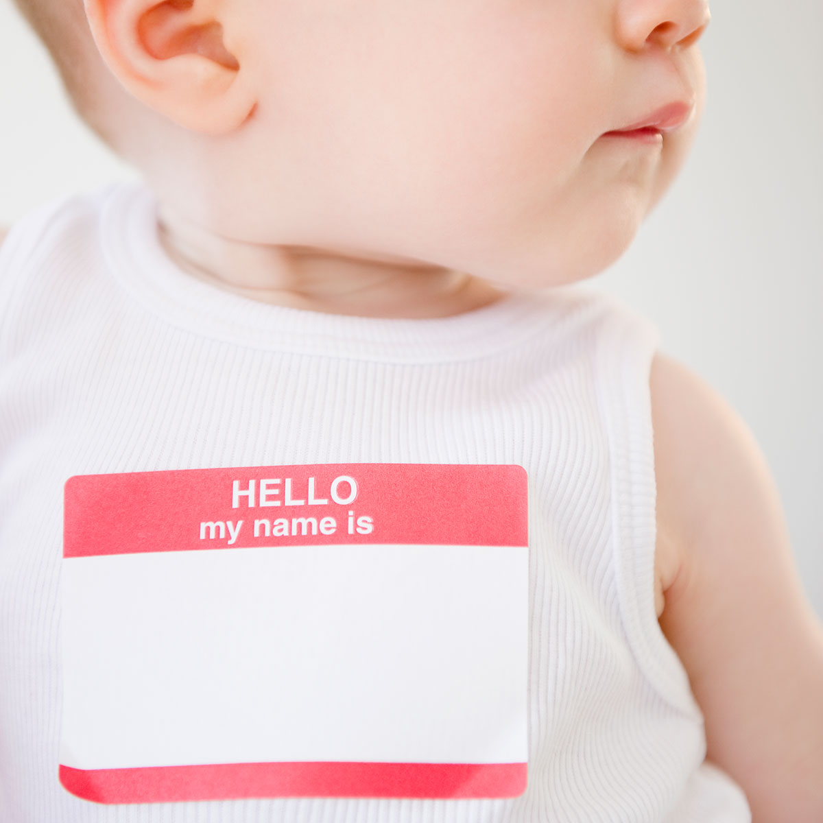 Baby With Name Tag