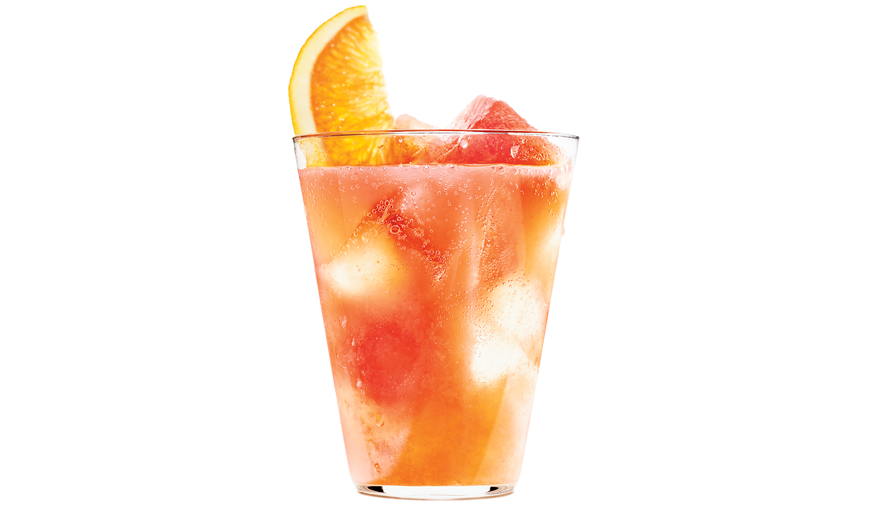 Grapefruit and Blood Orange Spritz With Campari Ice Cubes