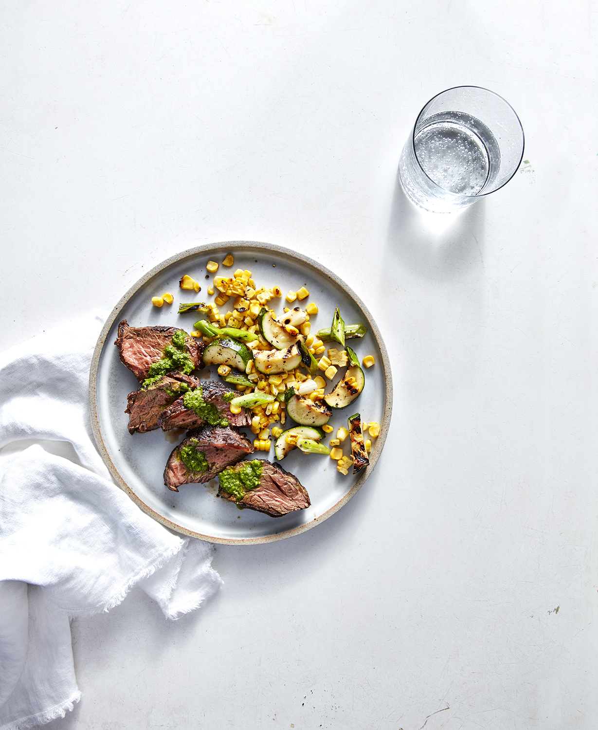 hanger-steak-succotash