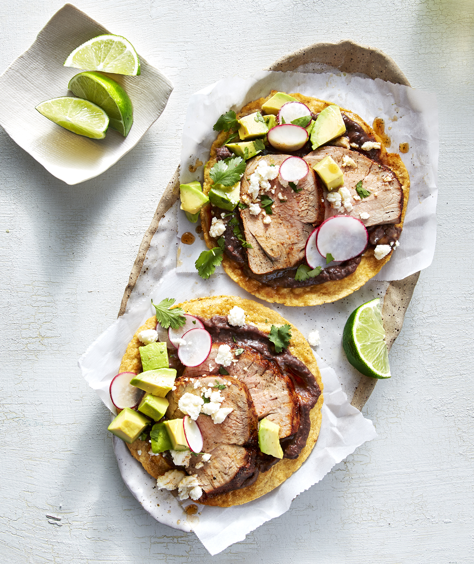 Chile-Rubbed Pork Tostadas